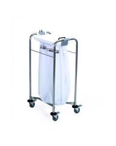 Laundry Cart - 1 bag Cart with White Lid 38x93x49cm