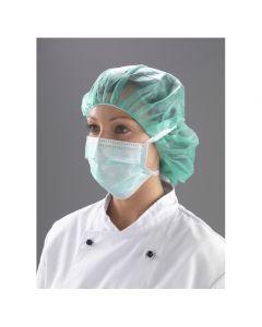 Non Woven Polypropylene Face Mask with Ties 3 ply, Green