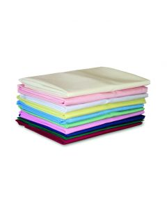 FR Polyester Pillowcases, Pair, 48cm x 73cm - Claret
