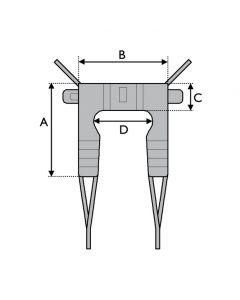 Dress Toileting Sling - Polyester fabric - Medium