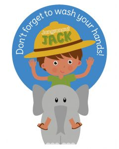 Jangronauts Paper Dispenser JACK Stickers - Don't forget to wash your hands