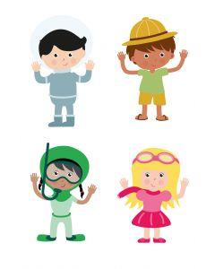 Jangronauts Door Stickers (one of each character)