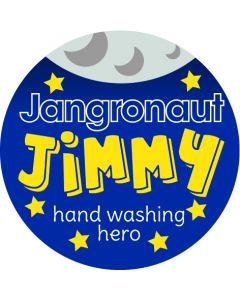 JIMMY- Jangronauts Round Pupil sticker
