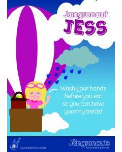 Jangronaut Poster A3 - Jangronaut Jess