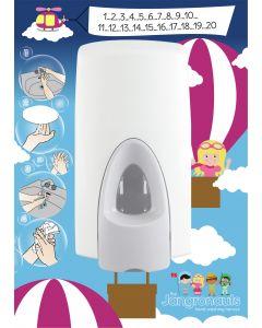 Jangronauts Dispenser Back Board -JESS Girls (fits standard size dispensers)