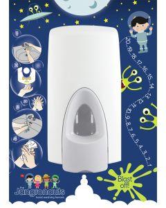 Jangronauts Dispenser Back Board -JIMMY Boys (fits standard size dispensers)