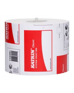Katrin Classic System Toilet Roll 800 Sheet, White 2 ply