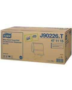 Tork Hand Towel Roll for Electric Dispenser 143M, Blue 1 ply