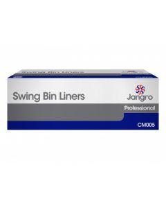 """Swing Bin Liners 13"""" x 23"""" x 30"""" White"""
