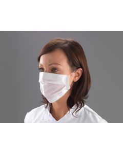 Paper Face Mask 2 ply with loops, White