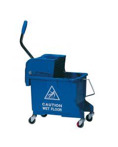 King Speedy Flat Mop Bucket/Wringer System Blue