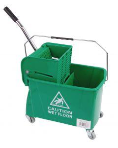 King Speedy Flat Mop Bucket/Wringer System Green