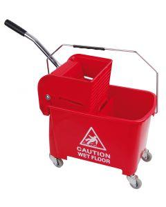 King Speedy Flat Mop Bucket/Wringer System Red