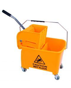King Speedy Flat Mop Bucket/Wringer System Yellow
